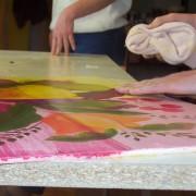 Stage de peinture sur bois à la galerie du Liseron, Tours