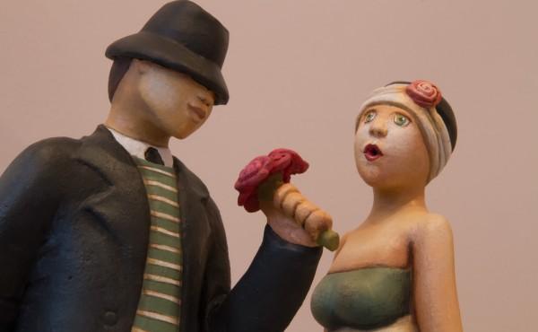 Sculpture de Sandra Grimaud à la galerie du Liseron Geneviève Naudin