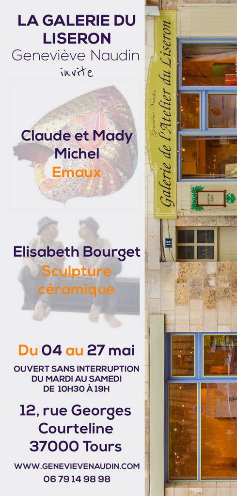 Claude et Mady Michel, émaux d'art, à la galerie du Liseron